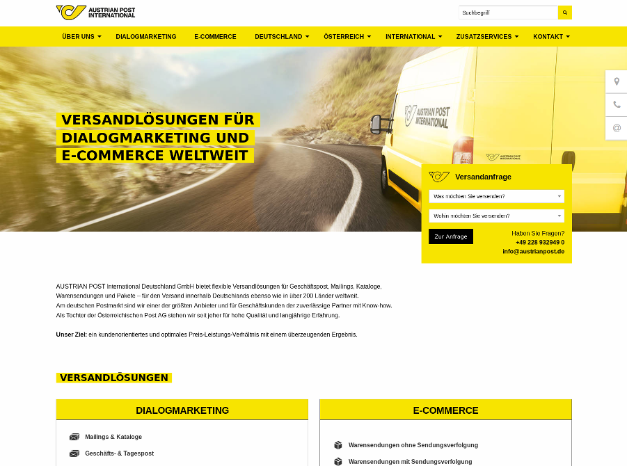 Website Austrian Post